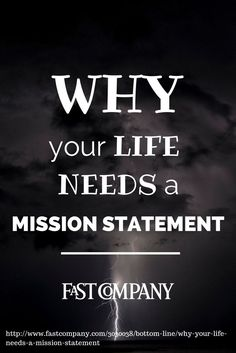 what is your mission in life example