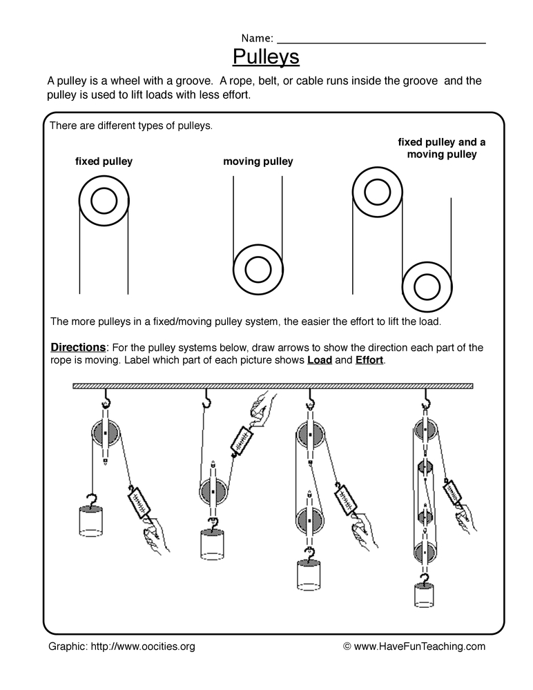 an example of a pulley at the playground