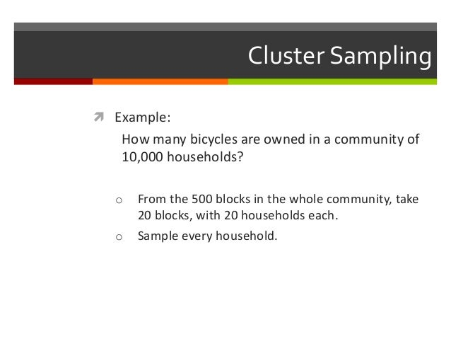 multi stage cluster sampling example