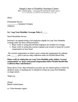 ada disability requst letter example