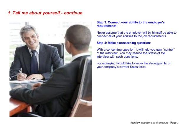 job interview tell me about yourself example