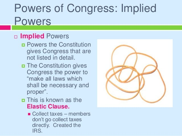 example of necessary implication in a statute