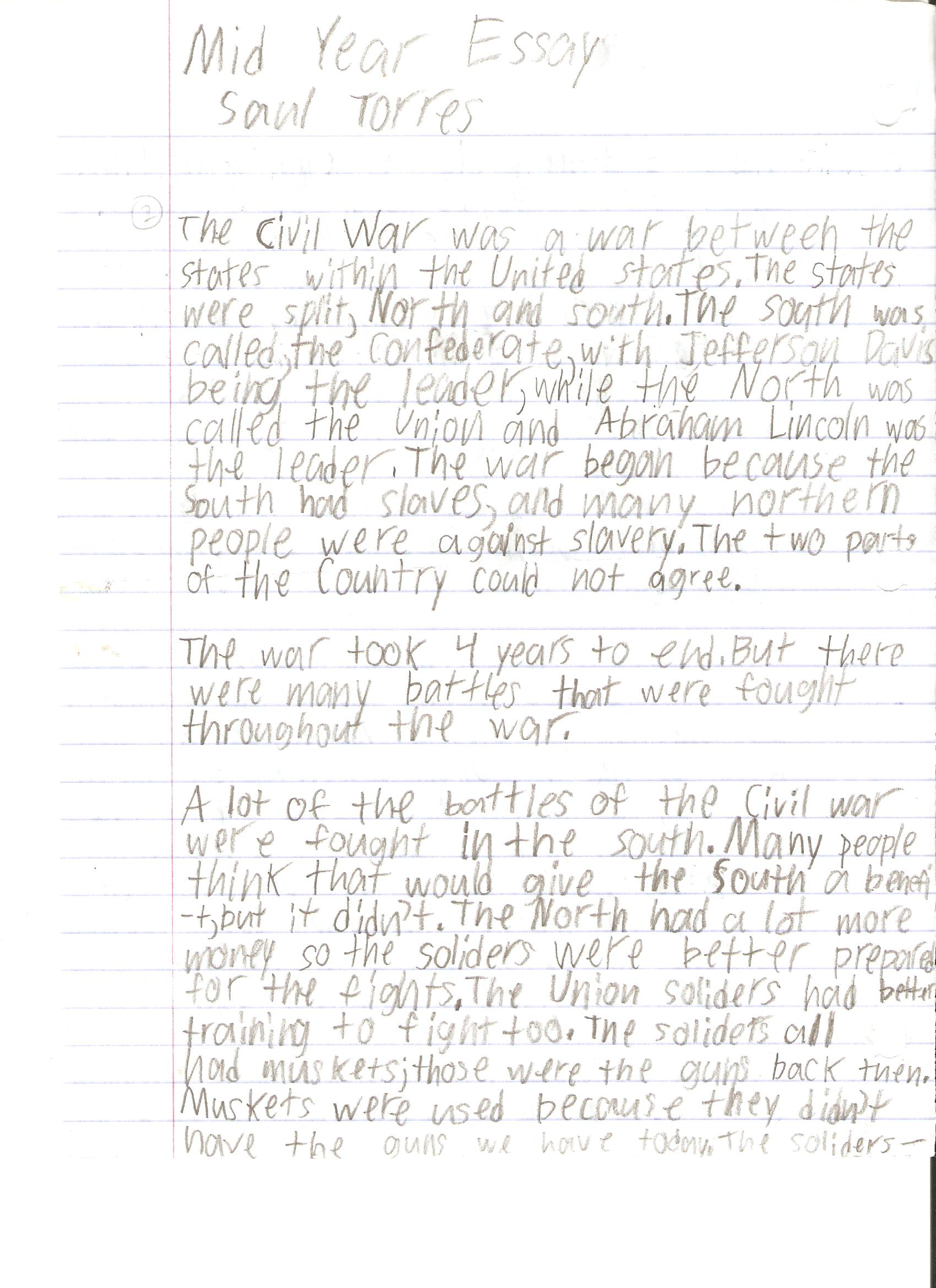 6th grade research paper example