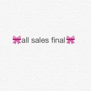 all sales final policy example