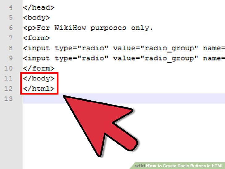 how to create radio button in html with example