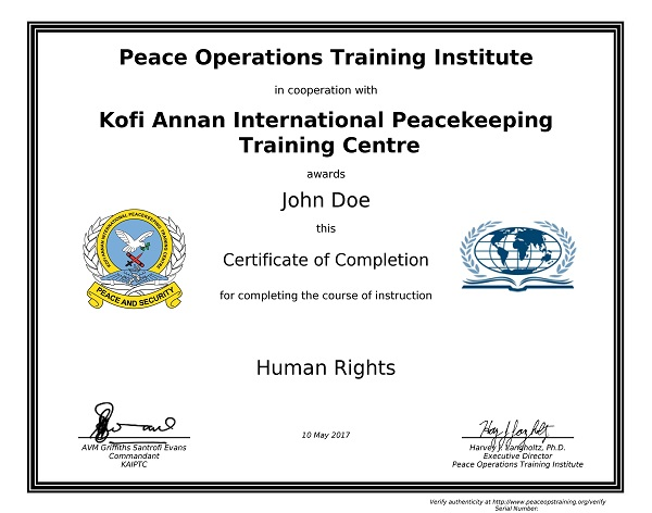 the un peacekeeping missions are an example of