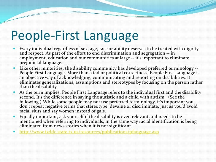 speaking in first person example
