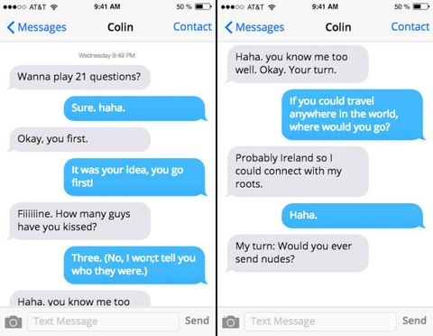 example of a sexting conversation