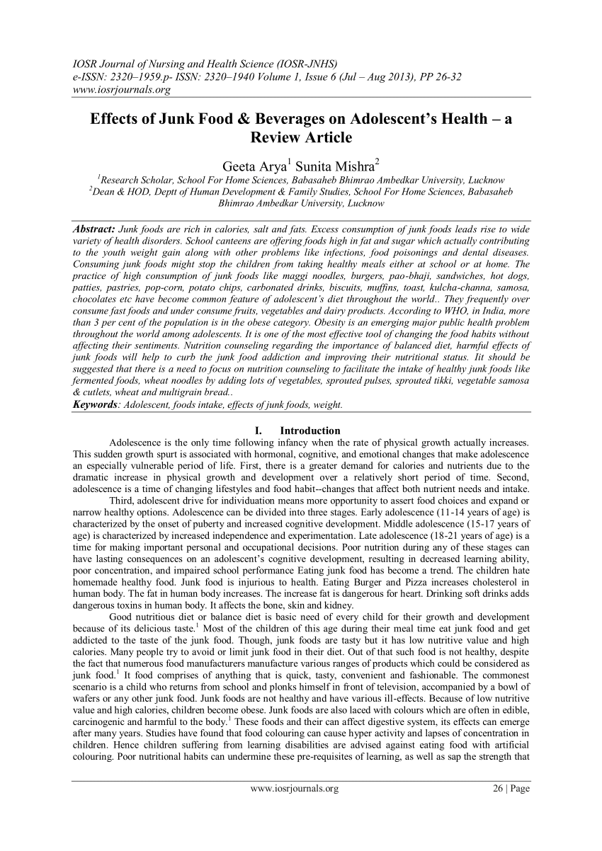 research journal article summary example