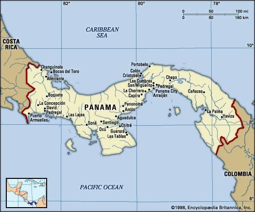 panama is an example of what physical feature