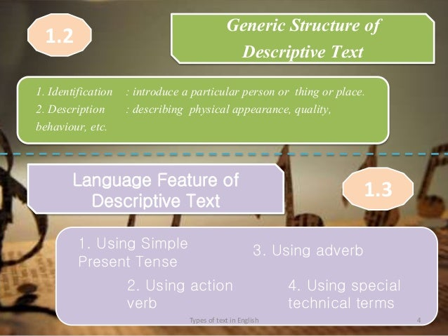 example of procedure text in english