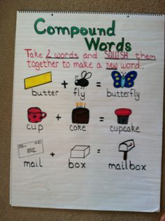 give 5 example of compound words