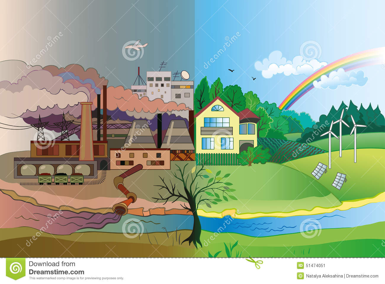 identify an example of a natural source of pollution