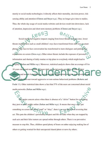 example of argumentative essay about social media