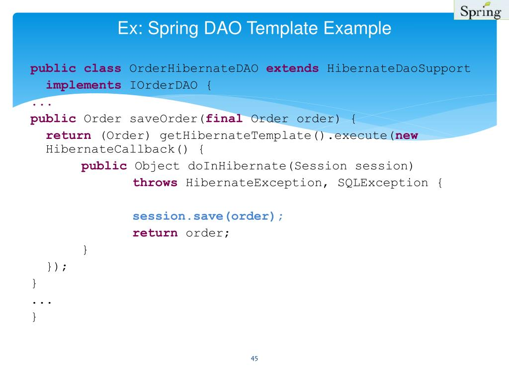 spring aop exception handling example