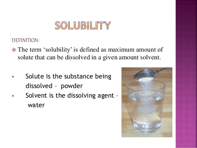 a solute that is insoluble in water example
