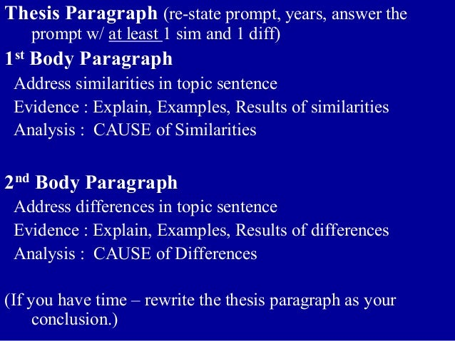 thesis example for comparative essay