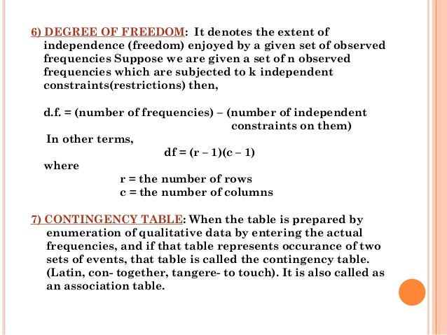 degree of freedom calculation example