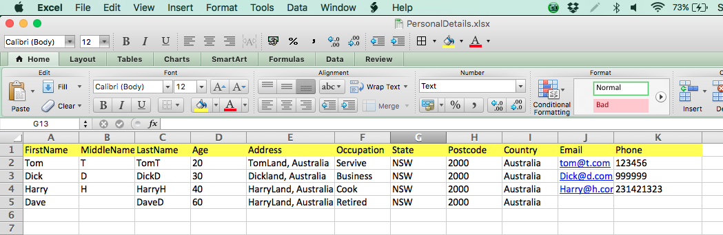 apache poi excel to html example