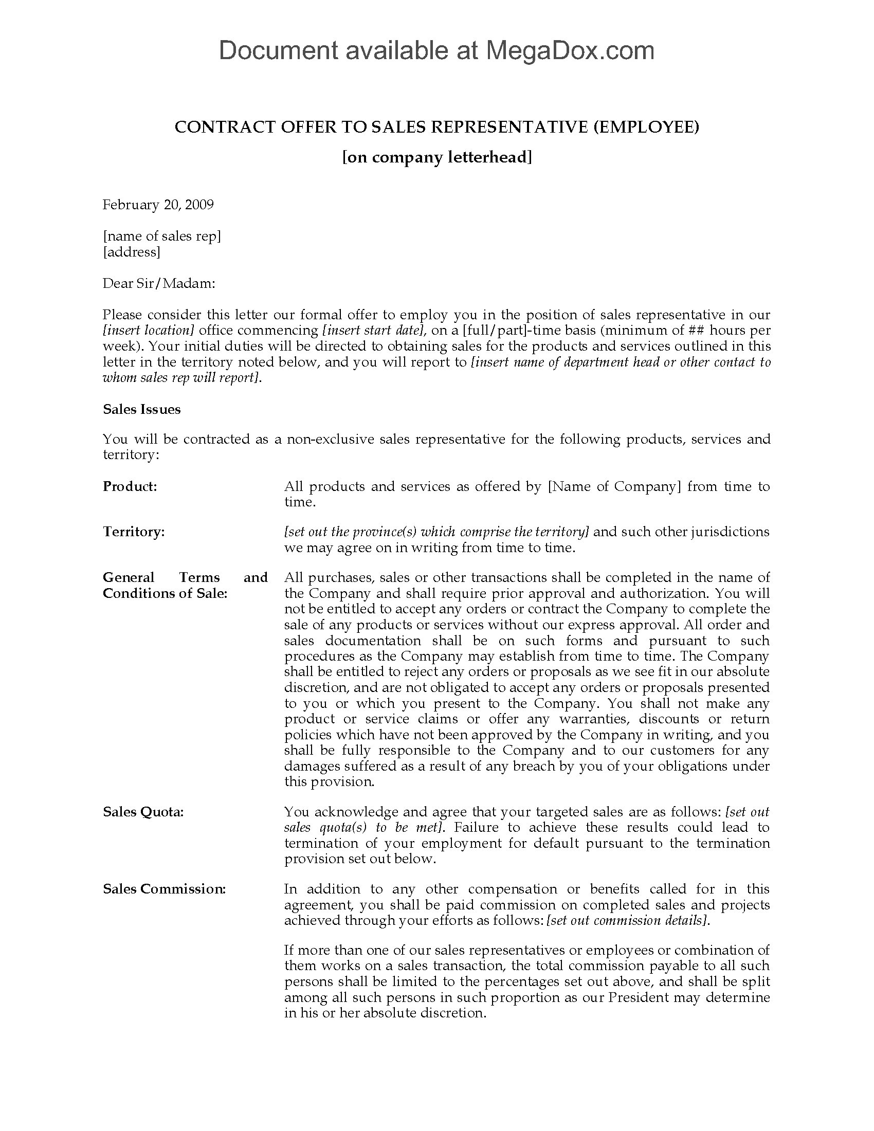 employee legal rep opening statement example