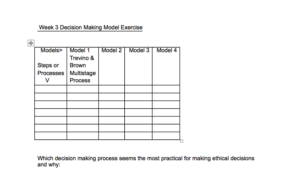 ethical decision making model example