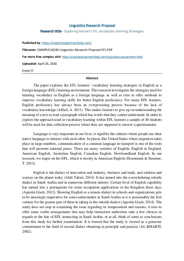 example 1 page research proposal engineering