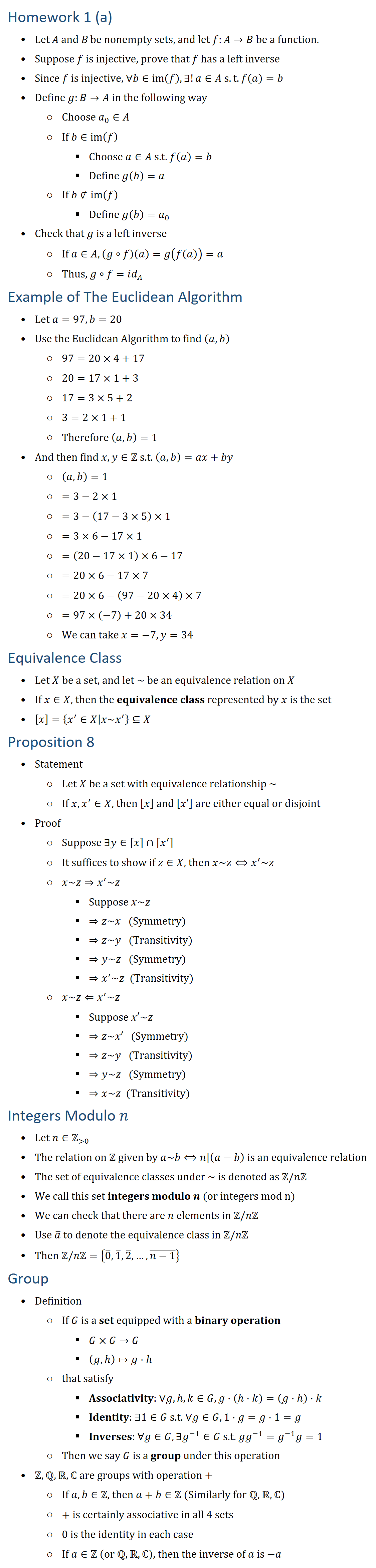 example of a non-injective function