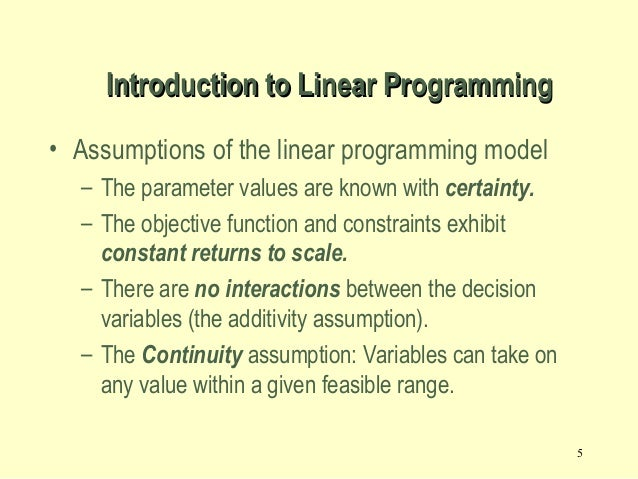 example of linear programming problem investment