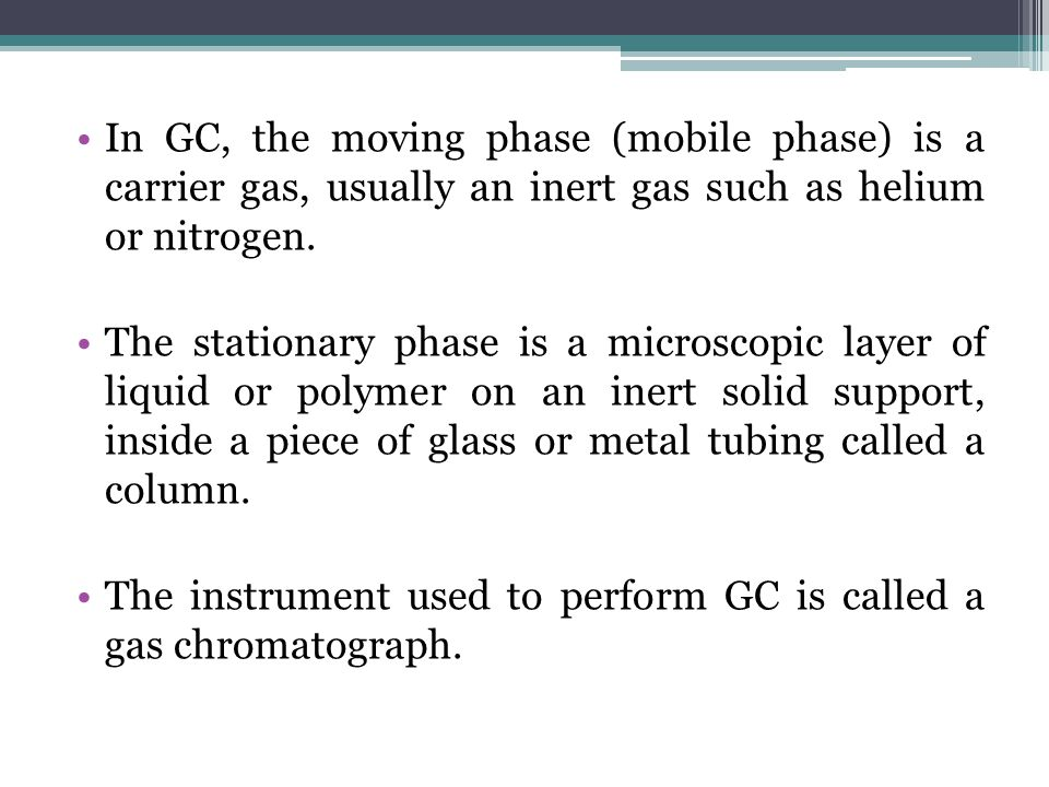 example of mobile phase in chromatography