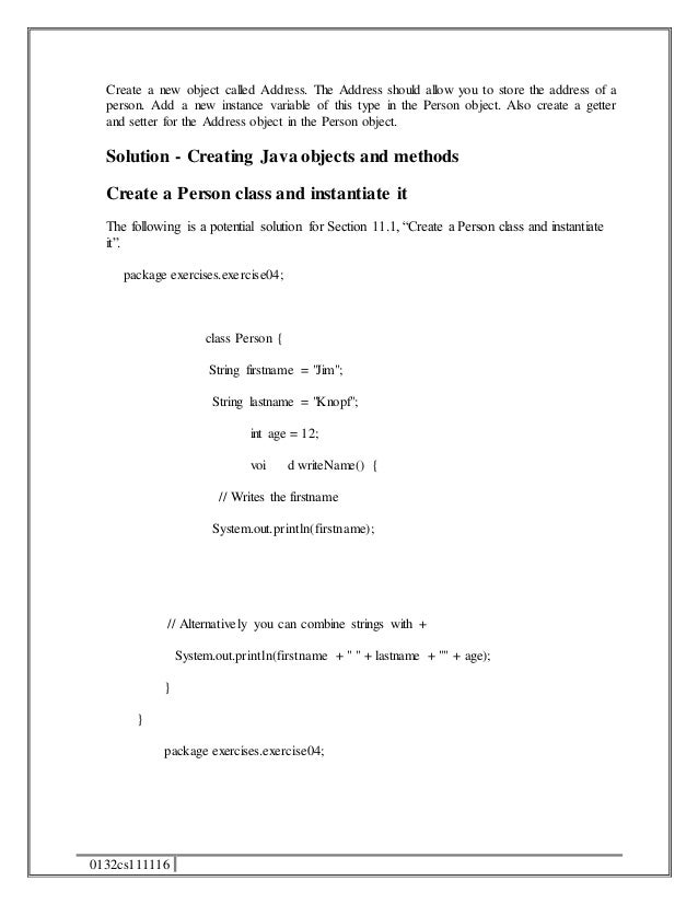 getter and setter java example