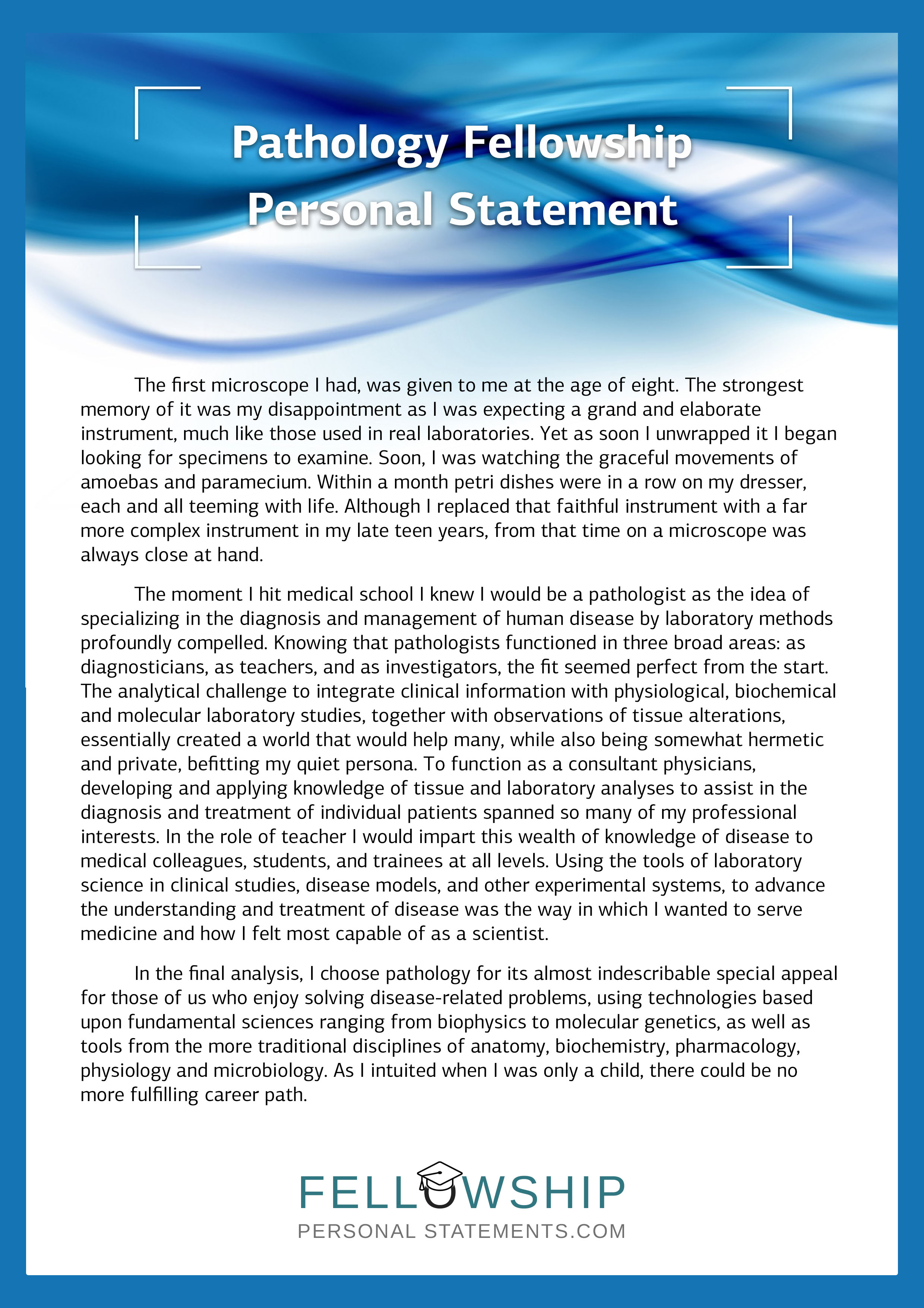 good pharmacy personal statement example