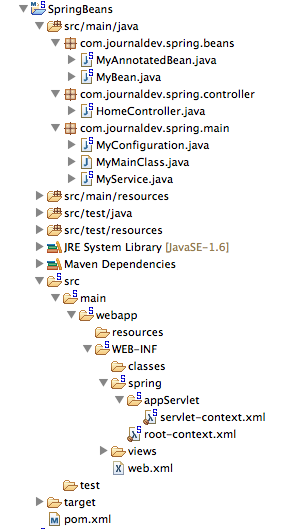 java spring web project example