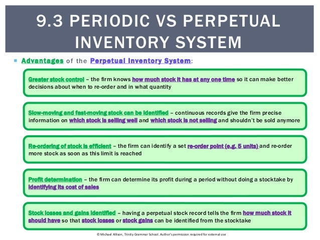 periodic and perpetual inventory system example