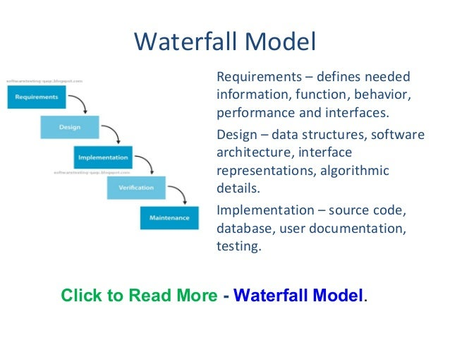 waterfall model project plan example