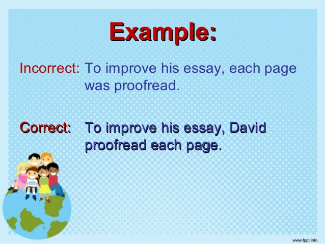 what is a dangling participle example