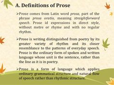 what is a prose poem example